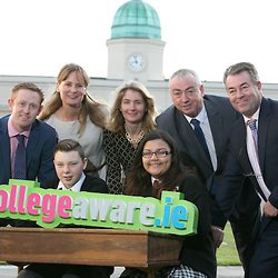 At the Launch: Minister for Education & Skills Jan O'Sullivan, Shaina Hevey & Josh Swaine, students from Westland Row CBS, Dublin and Kerry footballing legend Colm Cooper, Clive Byrne (National Association of Principals and Deputy Principals), Kathleen O'Toole-Brennan (Campaign Founder, Trinity College, Dublin), Tom Boland (Higher Education Authority), Mary Sheahan (Perrigo) and Donie Wiley (AIB).