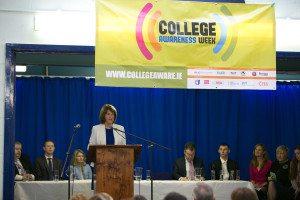 Tánaiste Joan Burton speaking at the College Awareness Week kick off today (24th Nov)