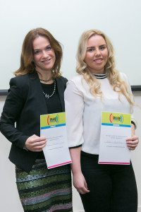 Dr. Rhona Mahony, Master of the National Maternity Hospital, Holles St, pictured with Robyn Hanrahan, 5th year student at Donahies Community School Donaghmede. Robyn spent a day shadowing Dr Mahony at work in the hospital as part of College Awareness Week.