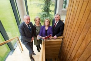 Tom Boland, CEO Higher Education Authority; Patrice Twomey, Director of the Cooperative Education and Careers Division at UL; Minister for Education and Skills Jan O'Sullivan TD and Professor Don Barry, UL President.