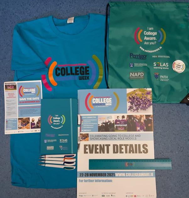 College Awareness Week merchandise